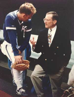 Gene Budig and George Brett