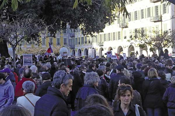 Charlie Hebdo march in Nice