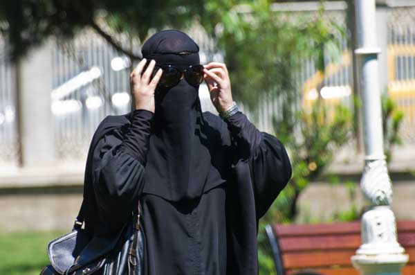 Woman wearing the niqab