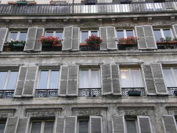 Shutters, Paris Facades