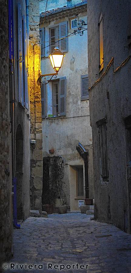 Old village street on the French Riviera