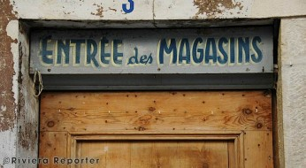 Old shop sign
