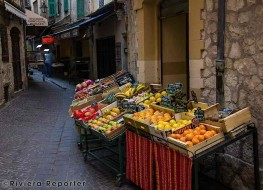 Shop stall in Provencal village street
