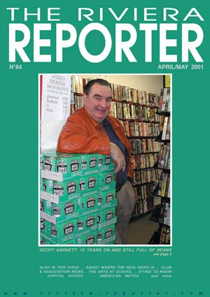 Geoffrey on cover of Reporter in 2001