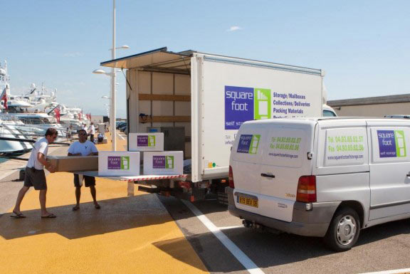 Square Foot Self-Storage transport vans