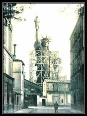 Construction of Statue of Liberty