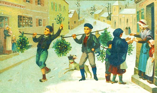Mistletoe sellers