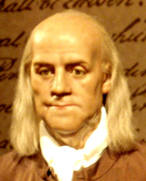 Mme Tussaud Ben Franklin