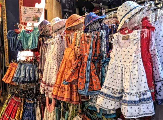 Prints of Provence, dresses for girls inside a shop