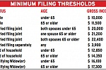 US Tax Minimum Thresholds 2014