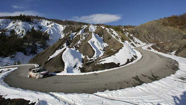Monte Carlo Rally in Alps