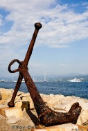 Anchor on French Riviera beach