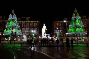Christmas lights in Nice