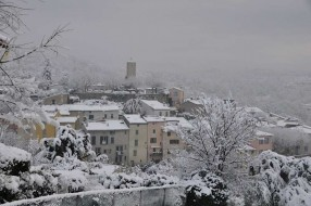 Tourrettes nr Fayence in the snow