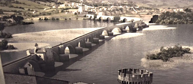 Pont d'Avignon reconstruction
